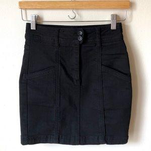 Black Free People mini denim skirt